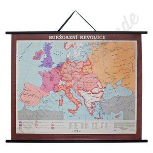 Vintage landkaart 'Burgelijke revolutie'