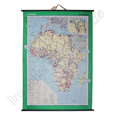 Oude landkaart 'Afrika'