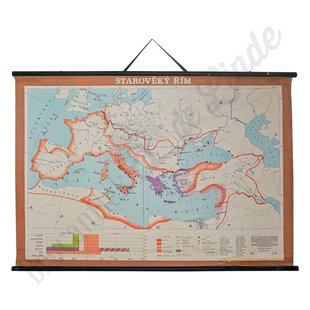 Vintage landkaart 'Het oude Rome'