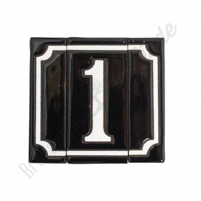 Handgeglasuurde huisnummers