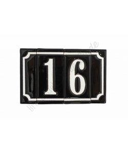 Handgeglazuurde huisnummers
