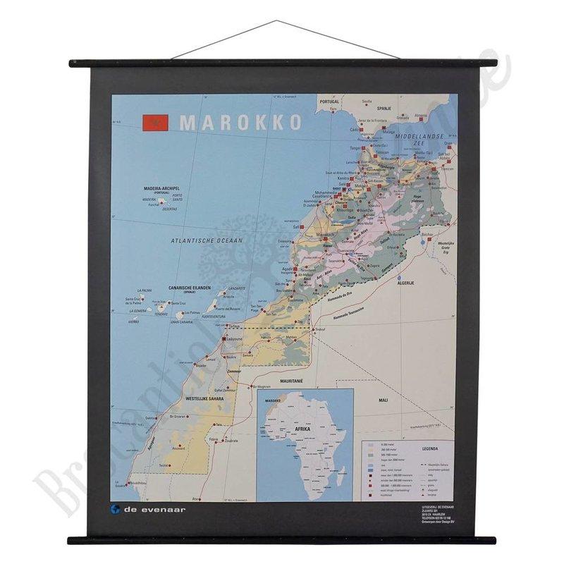 Vintage landkaart 'Marokko'