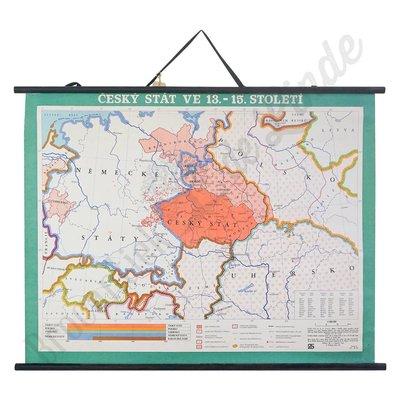 Oude landkaart 'Tsjechische staat'