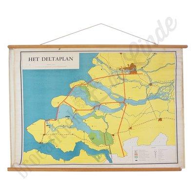 Vintage landkaart 'Het Deltaplan'
