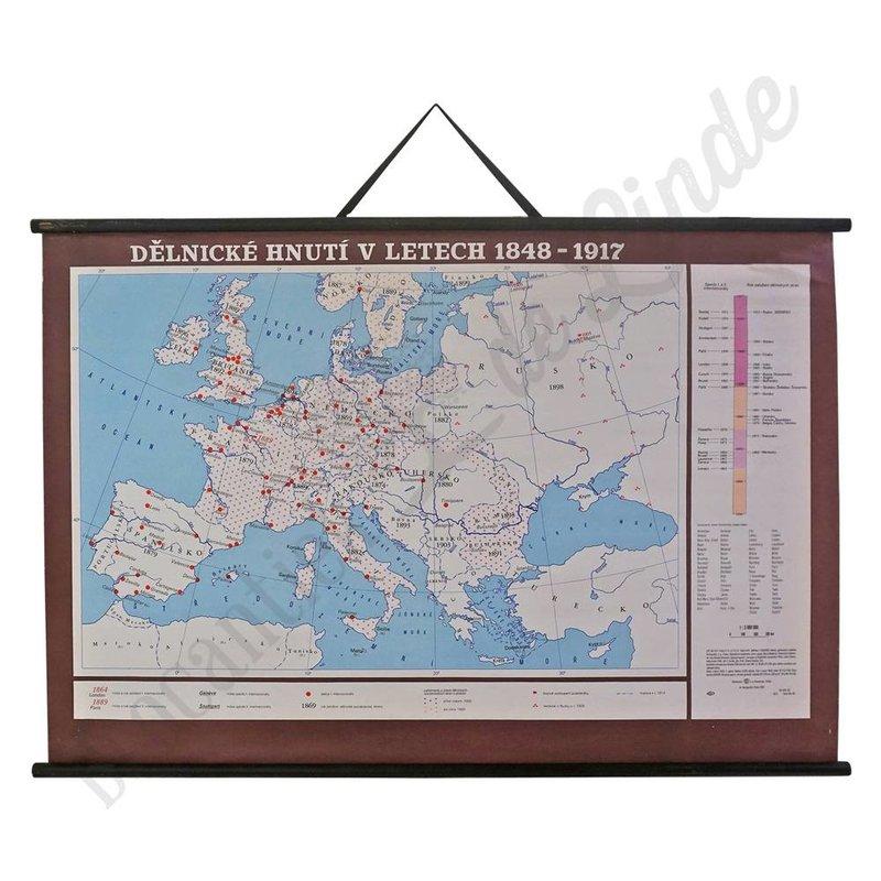 Vintage landkaart 'Werkbeweging in 1848-1917'