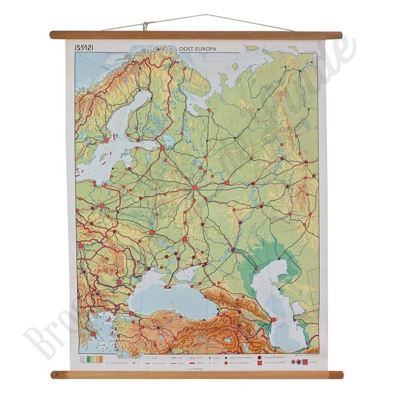 Vintage landkaart 'Oost-Europa'