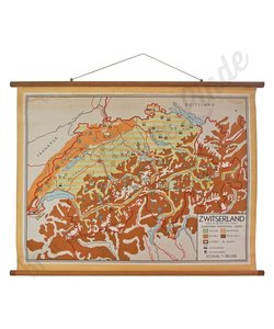 Vintage landkaart 'Zwitserland No. 1'