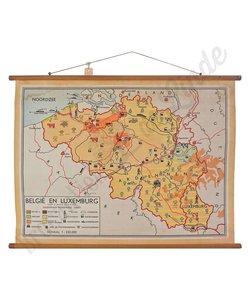 Oude landkaart 'België-Luxemburg'