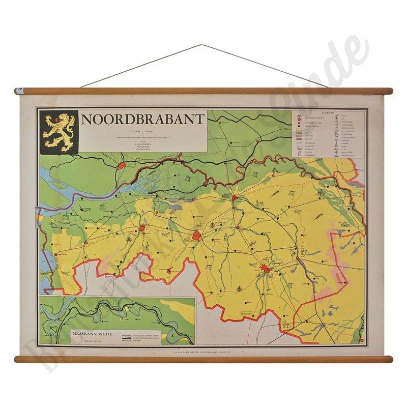 Vintage landkaart 'Noord-Brabant'