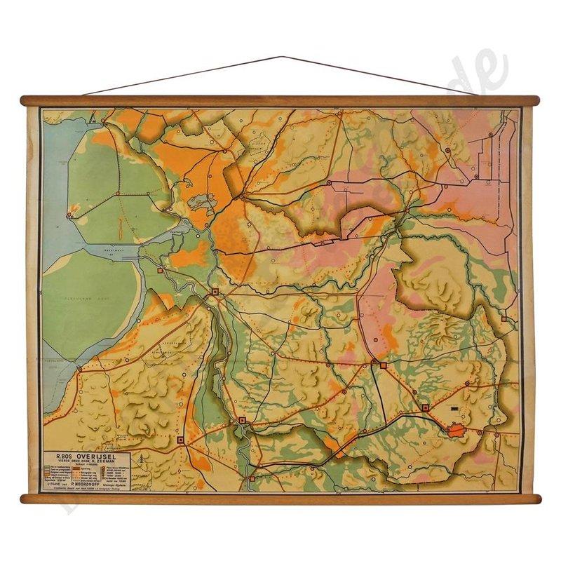 Oude landkaart 'Overijssel'