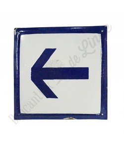 Emaille bord met pictogram