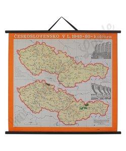 Vintage landkaart'Tsjecho-Slowakije'