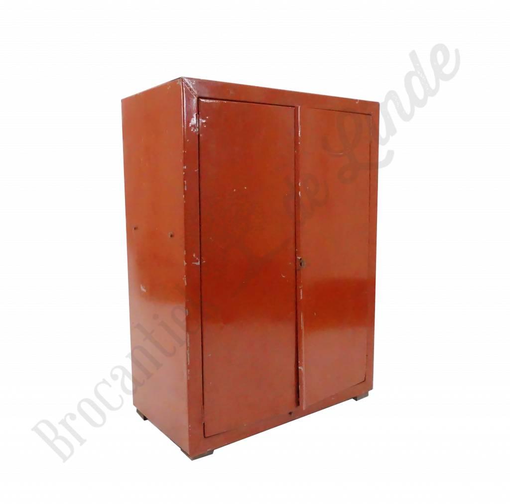 Industrieel Metalen Kastje Rood