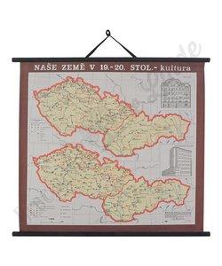 Oude landkaart 'Cultuur ons land'