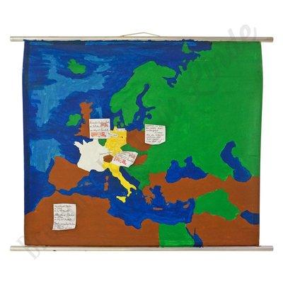 Geschilderde landkaart 'Europa'