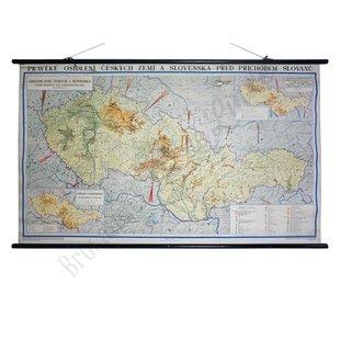 Vintage Tsjechische landkaart