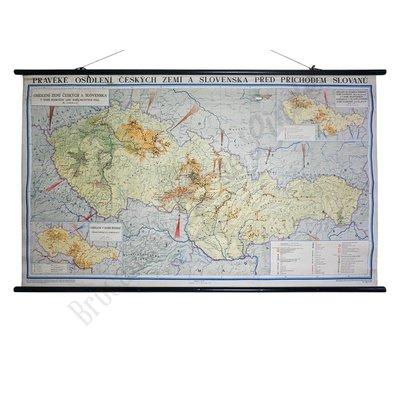 Oude Tsjechische landkaart