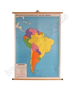 Vintage staatkundige kaart 'Zuid-Amerika'