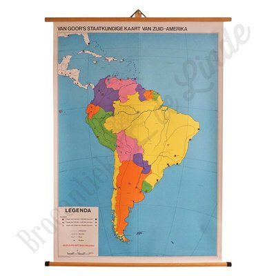Oude landkaart 'Zuid-Amerika'