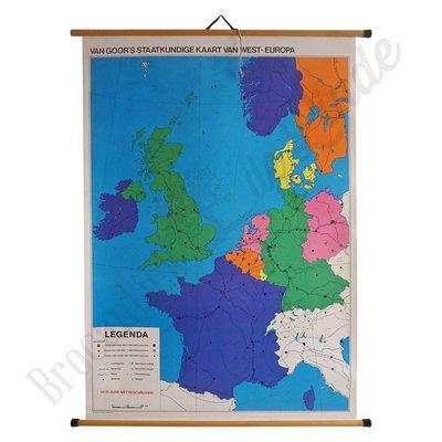 Oude landkaart 'West-Europa'