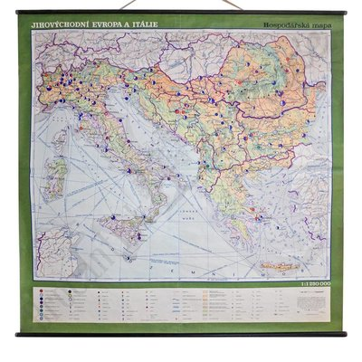 Vintage landkaart 'Europa-Italie'