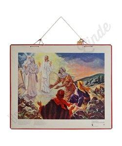 """Historische bijbelplaat  """"Hij werd van gedaante veranderd"""""""