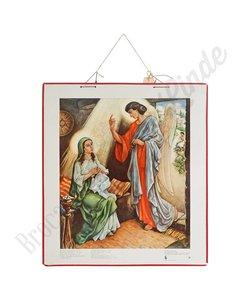 Historische bijbelplaat aankondiging Jezus' geboorte