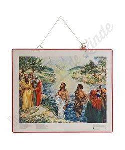 Historische bijbelplaat 'De hemelen openen'