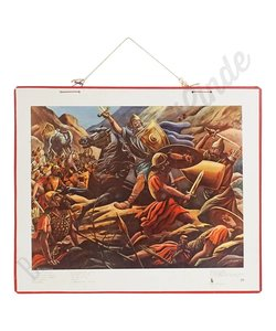 Historische bijbelplaat 'Nu trok Judas op'