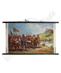 Historische schoolplaat 'Ridders'