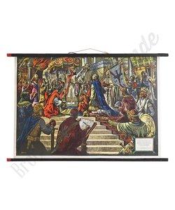 Historische schoolplaat 'Kroning in de kerk'
