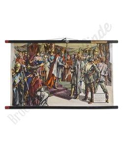 Historische schoolplaat 'Karel de Grote'