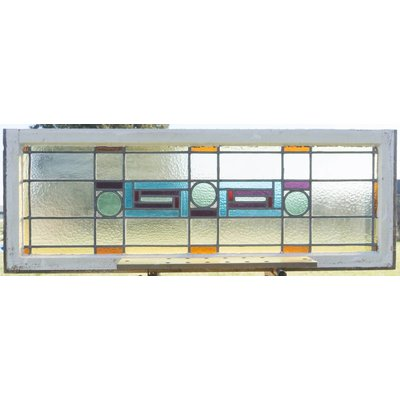 53,5 x 148,5 cm - Glas in lood raam No. 107