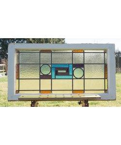 54,5 x 100 cm - Glas in lood raam No. 108