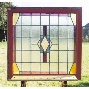 84,5 x 85 cm - Glas in lood raam No. 111