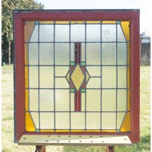 90,5 x 85 cm - Glas in lood raam No. 112