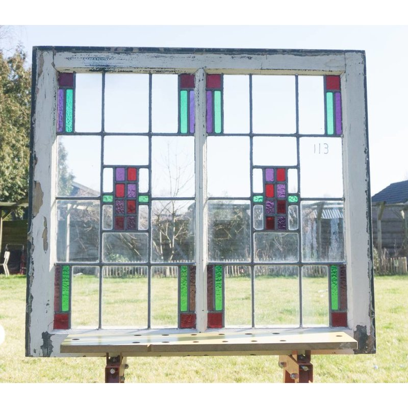 Glas in lood raam No. 113