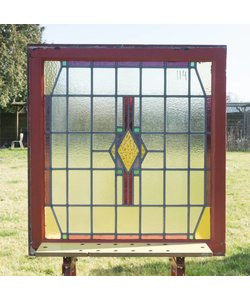 90,5 x 85 cm - Glas in lood raam No. 114