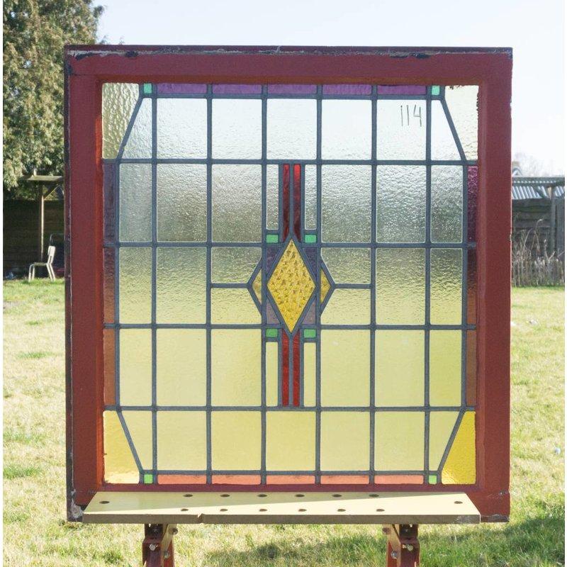 Glas in lood raam No. 114