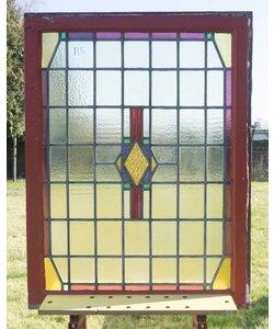112 x 84,5 cm - Glas in lood raam No. 115