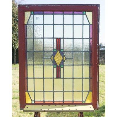 112,5 x 85,5 cm - Glas in lood raam No. 115