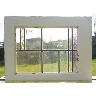 55,5 x 42,5 cm - Glas in lood raam No. 125