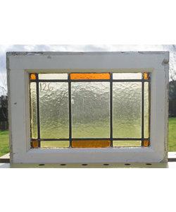 53,5 x 39 cm - Glas in lood raam No. 126