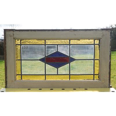 38,5 x 66,5 cm - Glas in lood raam No. 127