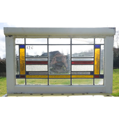 74 x 45 cm - Glas in lood raam No. 128