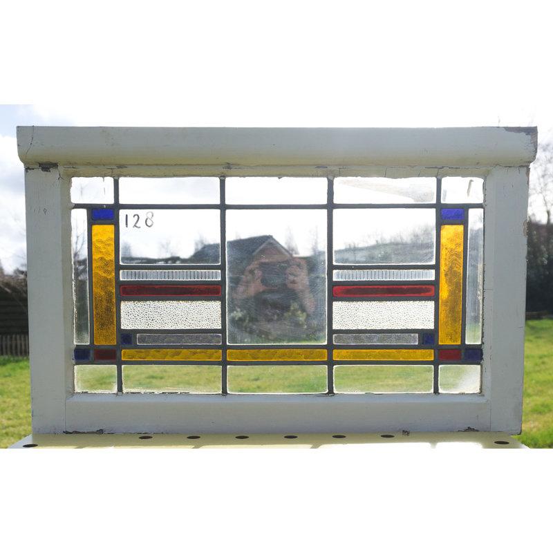 Glas in lood raam No. 128