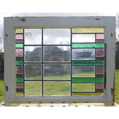 57 x 70 cm - Glas in lood raam No. 129