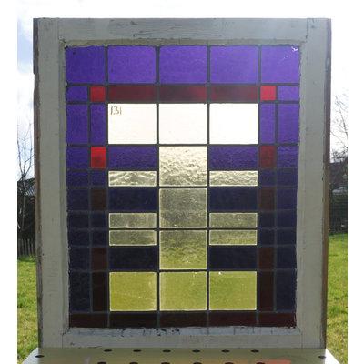81,5 x 70 cm - Glas in lood raam No. 131