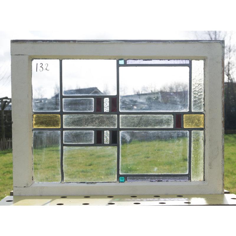 Glas in lood raam No. 132