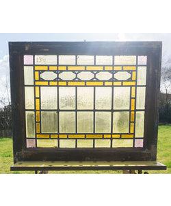 73 x 61,5 cm - Glas in lood raam No. 134